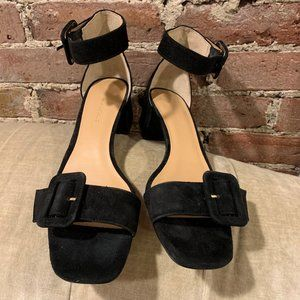 Banana Republic~ Black Suede Sandals (9M)